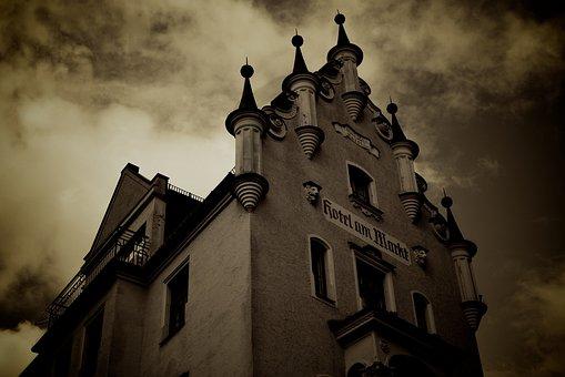 Hotel, Viktualienmarkt, Munich, Edited, Sepia, Building