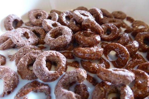Breakfast, Schokoflakes, Rings, Food, Nutrition