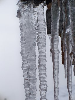 Icicles, Winter, Ice, Frozen, Close-up, Freeze, Cold