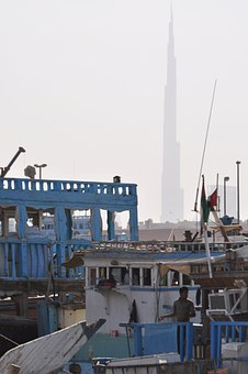 Skyscraper, Dubai, Harbor, Boat, Emirates, Dock, Ship