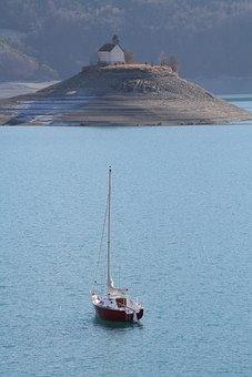 Serre Ponçon, Lake, Nature, Boat
