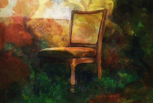 Still Life, Chair, Seat, Painting, Artistic, Artwork
