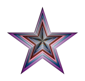 Star, Abstract, Geometric, Art, Colorful, Prismatic