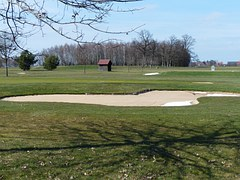 Golf Course, Green Space, Bunker, Sand, Golf
