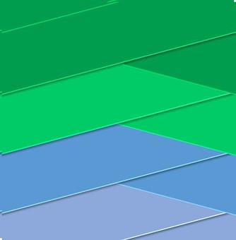 Blue, Green, Geometric, Bands, 3d, Shades, Shapes, Hues