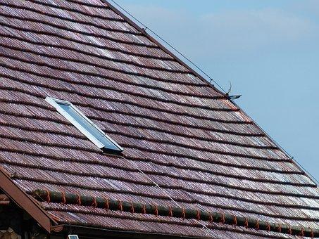 Roof, Tile, Roof Windows, Old, Powder Skirt