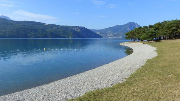 Landscape, Nature, Lake, Mountain, Summer, Alps, Water