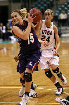 Basketball, Female, Action, Game, College, Ncaa, Arena
