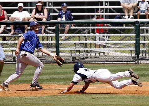 Baseball, Sliding, Action, Player, Game, Sport