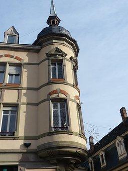 Bay Window, Old Town, Colmar, Turret