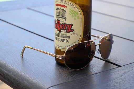 Sunglasses, Beer, Table, Leisure, Summer, Sun, Holiday