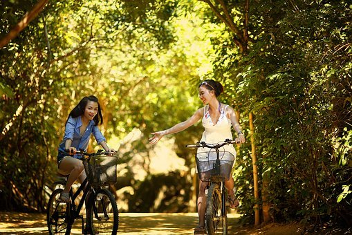 Girl, Biking, Bike, Bicycle, Cycle, Cycling, Cyclist