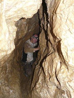 Bottleneck, Cave, Cave Tour, Adventure, Dangerous, Wet
