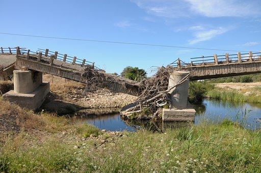 Sardinia, Bridge, Bach, Collapse, Nature, Water, Flood