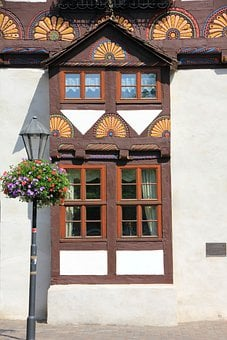 Building, Truss, Fachwerkhaus, Home, Window, Bay Window