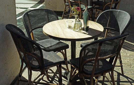 Round Table, Cafe, Bistro, Gastronomy, Seat, Table