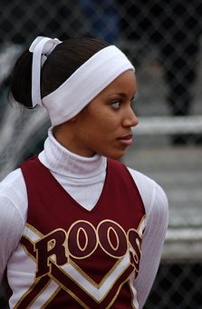 Cheerleader, Female, Football Game, Sports Fan