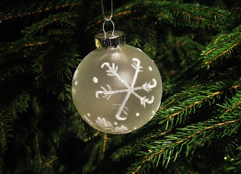 White Fir Ball, Christmas, Tree Decorations, Depend