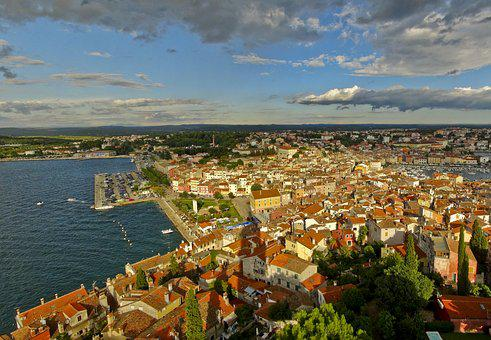 Croatia, City, Panorama, Adriatic Sea, Port City