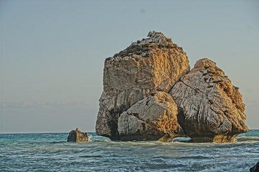Rock, Aphrodite, Sea, Coastal, Forms, Aphrodite Rock