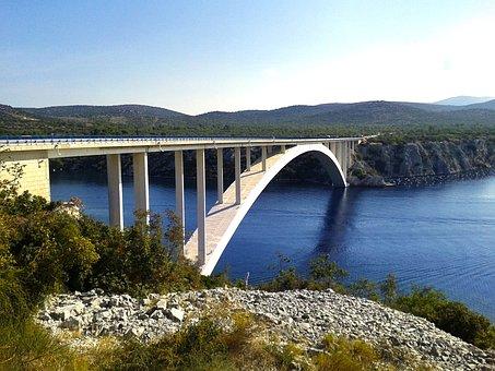 Bridge, Dibenik, Croatia, Holiday, Sea, Water, Boot