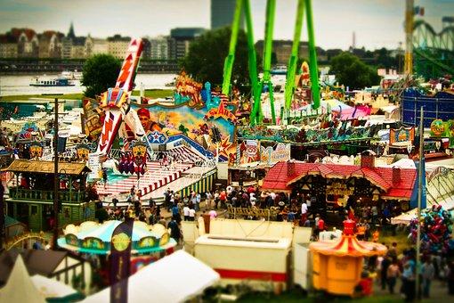 Crowd, Fair, Folk Festival, Year Market, Rides
