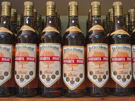 Alcohol, Cuba, Bottles, Guayabita Del Pinar, Liqueur