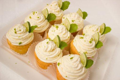 Caipirinha, Muffins, Cake, Cream, Lime, Mint, Cupcake