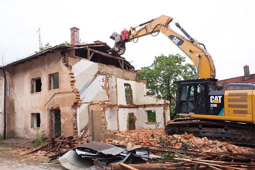 Demolition, Collapse, Broken, Building Rubble