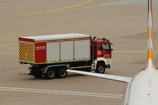 Airport, Fire, Wf, Use, Kölnbonn, Fire Engines, Drive
