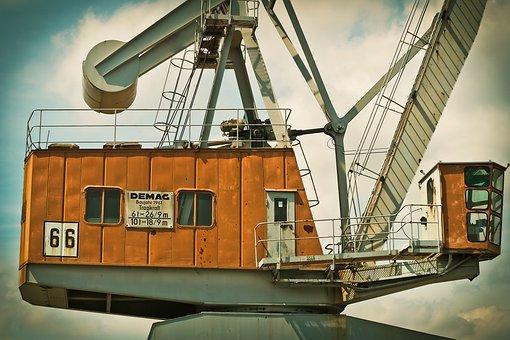 Port, Crane, Harbour Crane, Envelope, Loading Crane