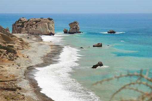 Aphrodite, Beach, Birthplace, Coast, Cyprus, Europe