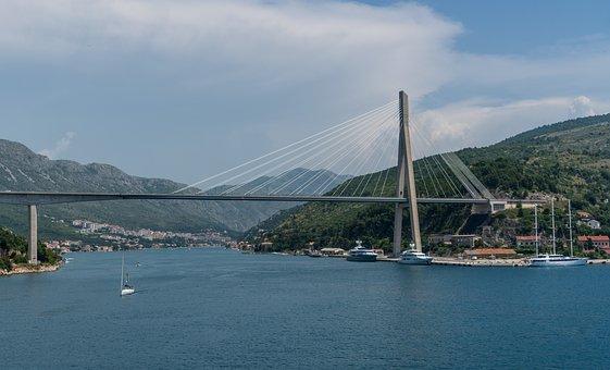 Croatia, Dubrovnik, Bridge, Europe, Flowers, City, Town