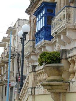 Facade, Balcony, Architecture, Road, Mellieha