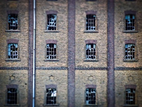 Facade, Old, Brick, Window, Building, Stone Built House