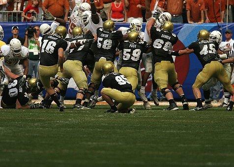 American Football, Field Goal, Team, Action, Kick