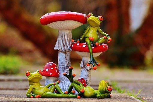 Frogs, Mushrooms, Figures, Funny, Cute, Animals, Sweet