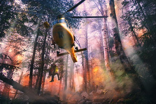 Helicopter, Help, First Aid, Mountain Rescue, Fly