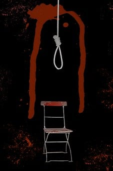 Rope, Red, Folding Chair, Blood, Hangman Rope