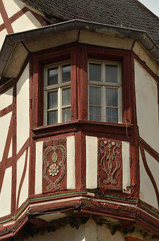 Bay Window, Timber-framed, Half-timbered House, Window