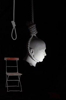 Head, Folding Chair, Rope, Red, Depend, Sling, Hang
