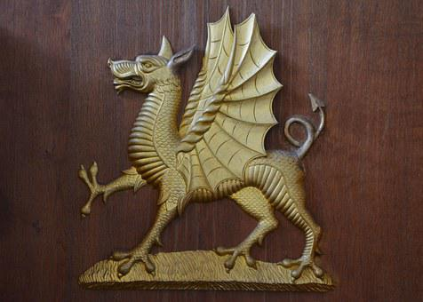 Dragon, Emblem, Symbol, Head, Logo, Mascot, Ancient