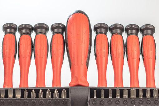 Screwdriver, Tool, Craft, Red, Phillips, Metal, Head