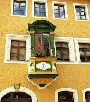 Freiberg, House, Bay Window, Ornament, Architecture