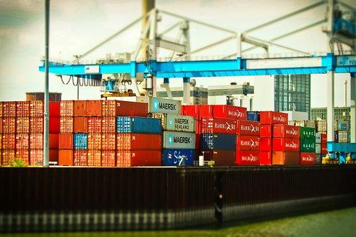 Port, Inland Port, Rhine, Crane, Düsseldorf