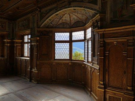 Bay Window, Castle Room, South Tyrol, Window, Inside