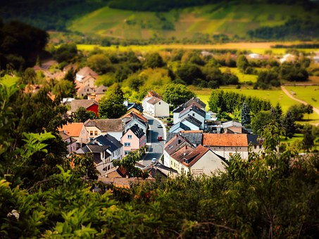 Tilt Shift, Village, Landscape, Germany, Nature