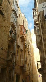 Alley, Old Town, Malta, Valletta, Homes, Building
