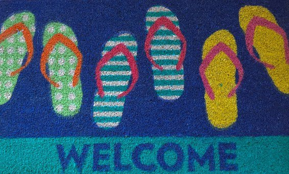 Welcome, Mat, Beach, Relax, Vacation, Chill, Out
