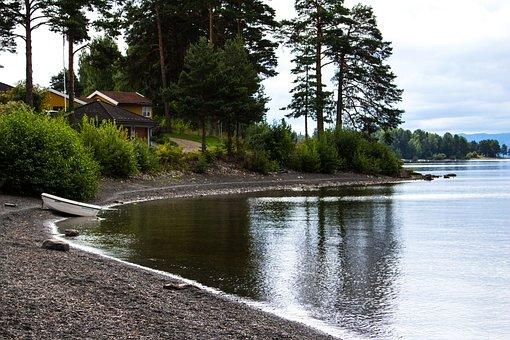 Lake, Cove, Water, Nature, Landscape, Shore, Beach, Day